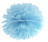 Pompon Romy azurblau 25cm