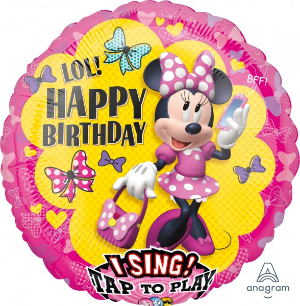 Singender Minnie Mouse Folienballon