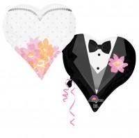 Herzballon Traumhaftes Brautpaar