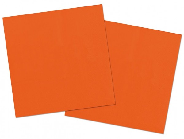 20 Servietten Cleo orange 33 x 33cm