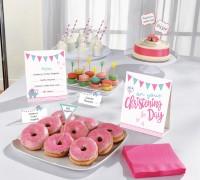 Christening Day Buffet Set rosa 12-teilig