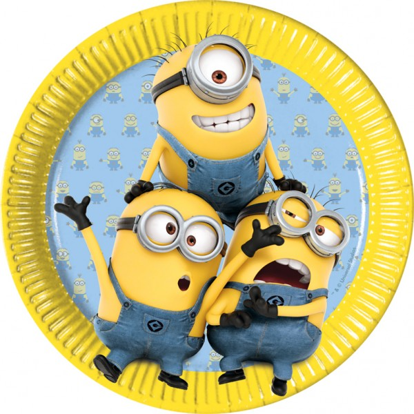8 Minion Parade Pappteller 23cm