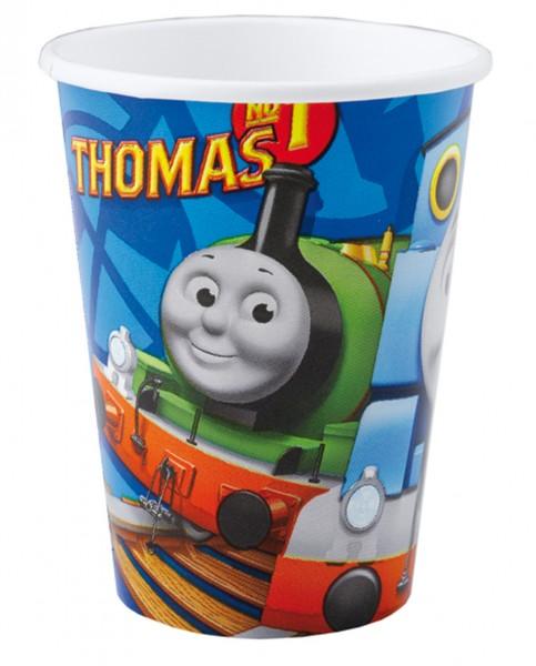 8 Thomas die kleine Lokomotive Pappbecher 266ml