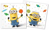 20 Minions Ballon Party Papier Servietten 33x33cm