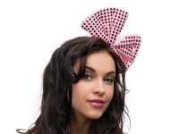 Haarreif mit rosa Paillettenschleife