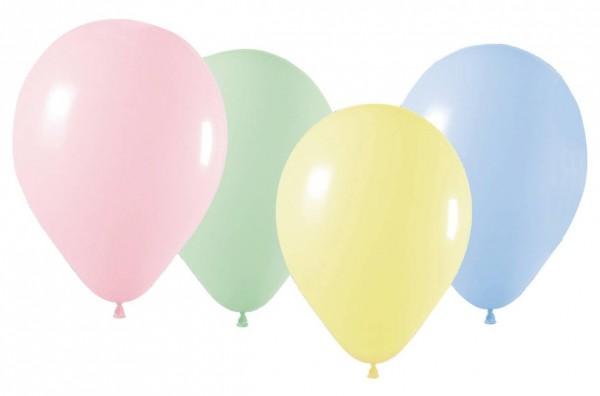 10 Pastell Luftballons Marseille bunt 23cm