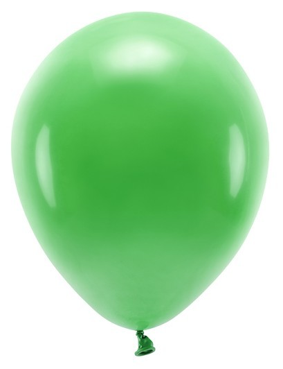 100 eco pastel balloons green 26cm