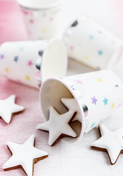 6 papierowych kubków unicorn Twinkle 180ml