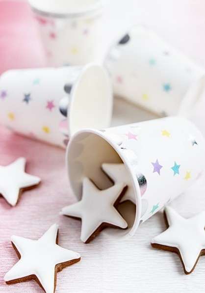 6 unicorn Twinkle paper cups 180ml