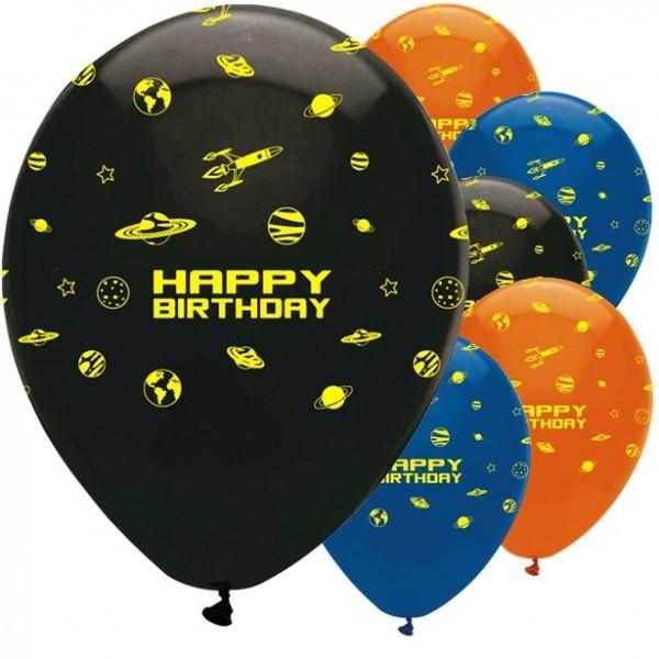 8 Weltraum Shuttle Luftballons 30cm