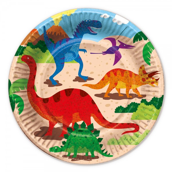 6 Dino Mania festplader 22cm