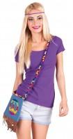 Peace Hippie Handtasche mit Kordel
