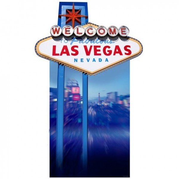 Welcome to Vegas cardboard stand 188cm