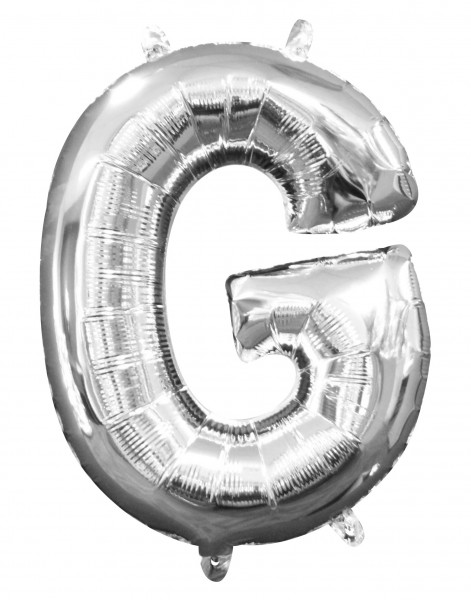 Mini ballon aluminium lettre G argent 35cm