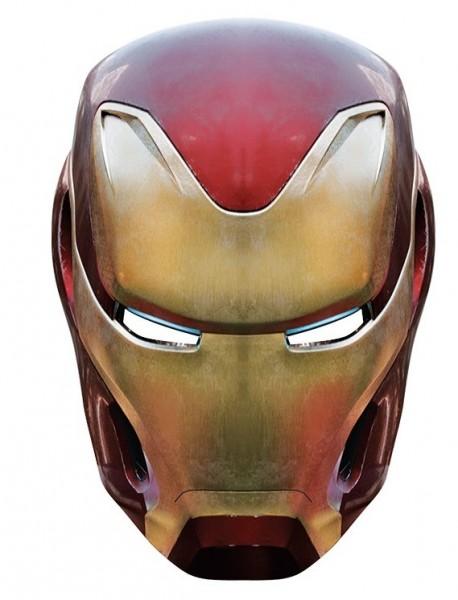 Iron Man Infinity Maske aus Pappe