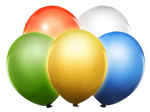 Lot de 5 ballons LED mix 30cm