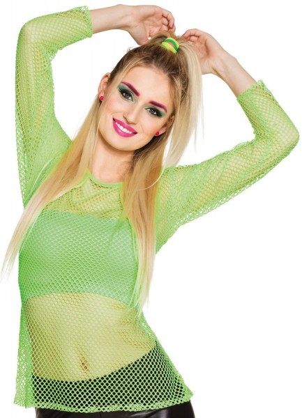 Mesh shirt long sleeve green