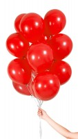 30 Ballons in Rot 23cm