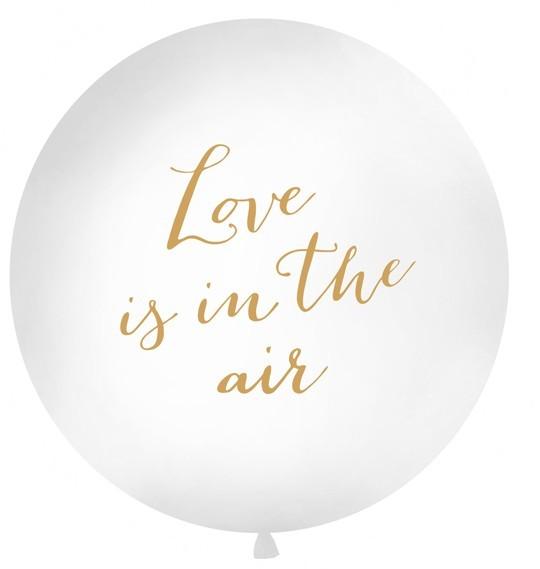 L'amore è nell'aria XL palloncino oro 1m