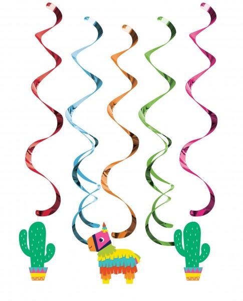 5 Rainbow Fiesta Spiralhänger