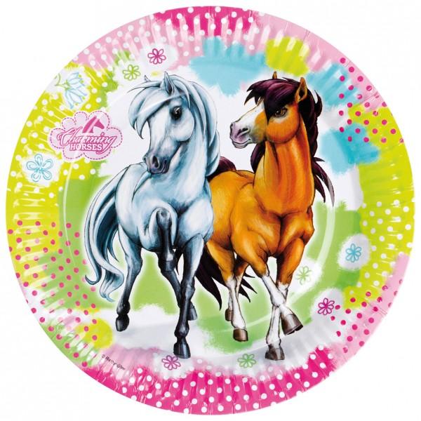 8 Pappteller Partytime Charming Horses 23cm