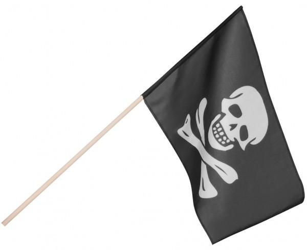 Klassische Piraten Totenkopf Fahne 30 x 45cm