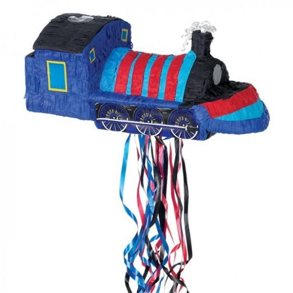 Piñata tren azul 50 x 23cm