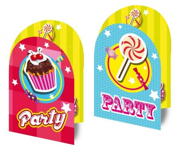 8 Sweet Surprise Einladungskarten