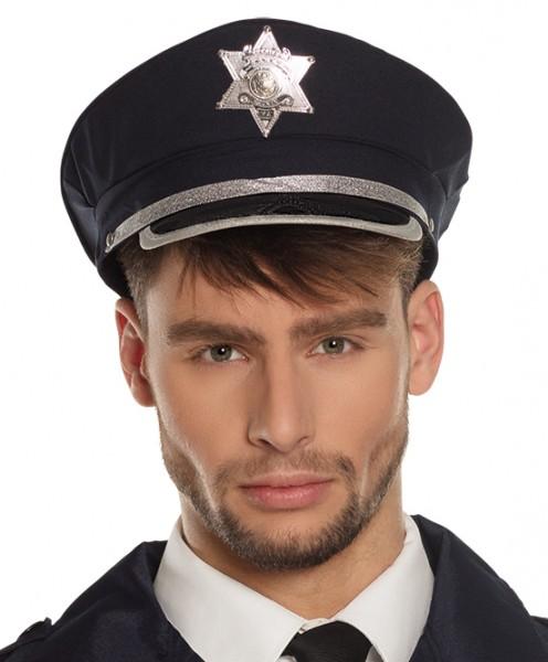 Blaue Polizistin Mütze