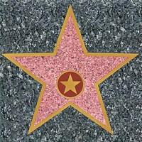 Hollywood Stern Aufkleber 30cm
