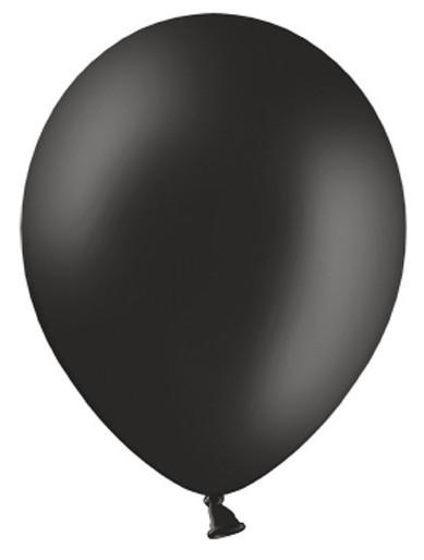 100 Partystar Luftballons schwarz 30cm