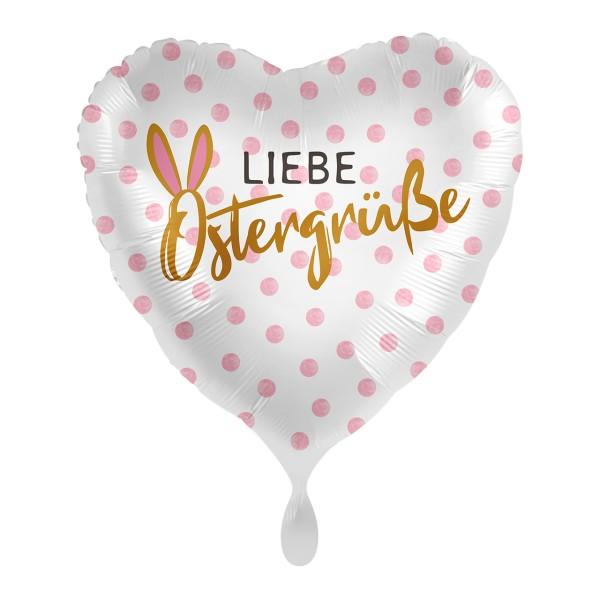 Liebe Ostergrüße Herzballon 43cm