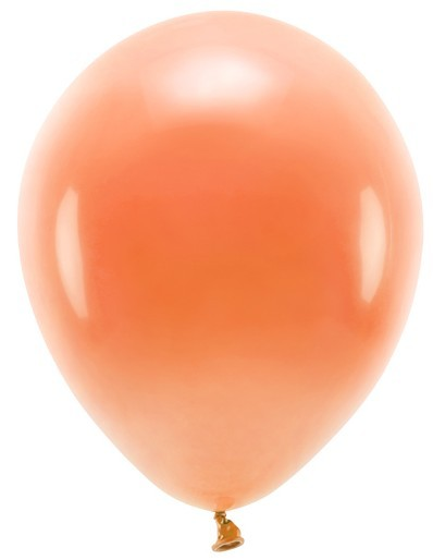 100 Eco Pastell Ballons orange 26cm