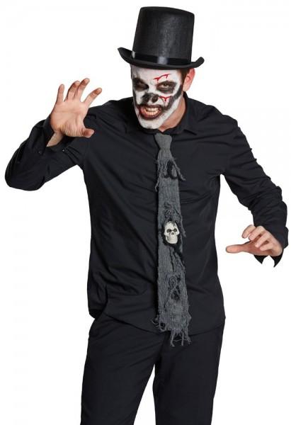 Cravate crâne d'horreur