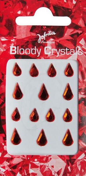 Glitzernde Klebe Blutstropfen