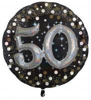Golden 50th Birthday Folienballon 81cm