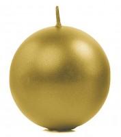 10 Kugelkerzen Torino gold metallic 6cm