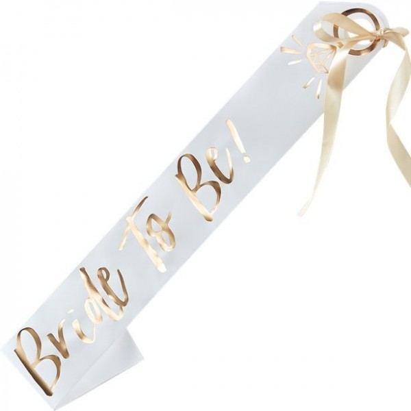 Ceinture Bride to Be JGA 75 x 10cm