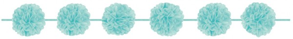 Turquoise Pompon Garland Napoli 3,65m