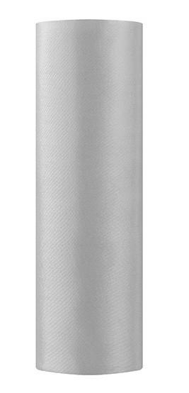 Satin Stoff Eloise silber 9m x 16cm