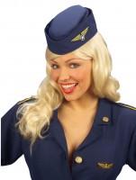 Marineblauer Stewardess Hut