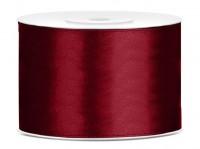 25m Satin Geschenkband burgunder 5cm breit
