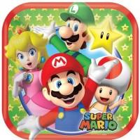 8 Super Mario World Pappteller 17cm