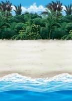 Karibik Strand Wandkulisse 1,2 x 12,2m