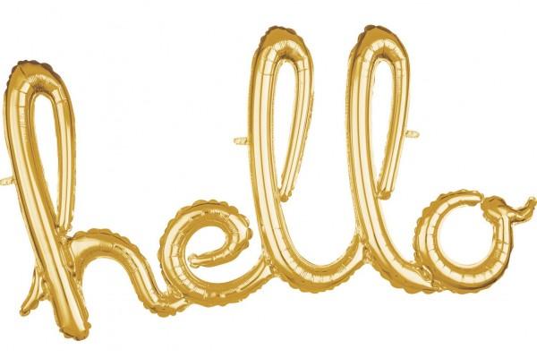 Goldener Hello Schriftzug 99 x 55cm