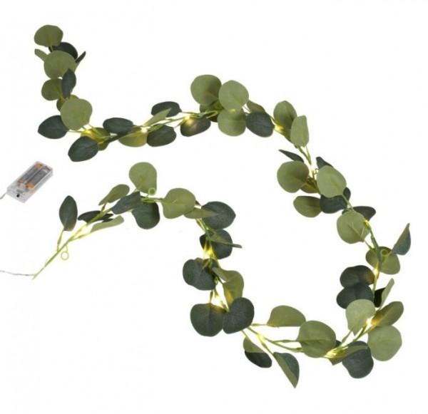 Cadena luminosa decorativa eucalipto 2m