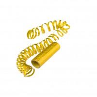 Goldene Glitzer Luftschlangen 4m x 7mm