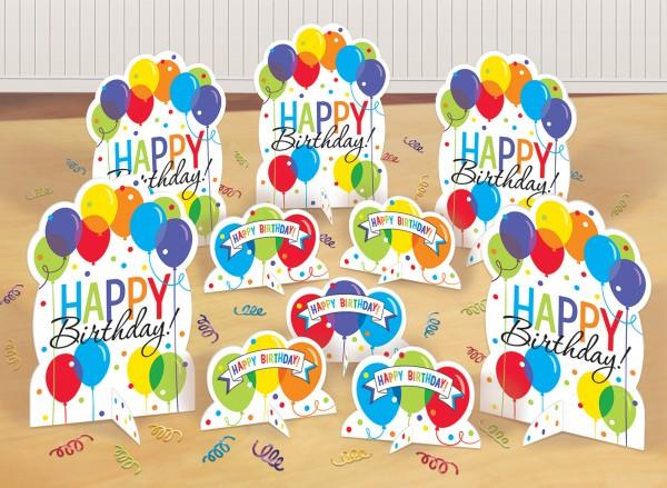 Birthday Ballonparty Tischdeko Set 11-teilig