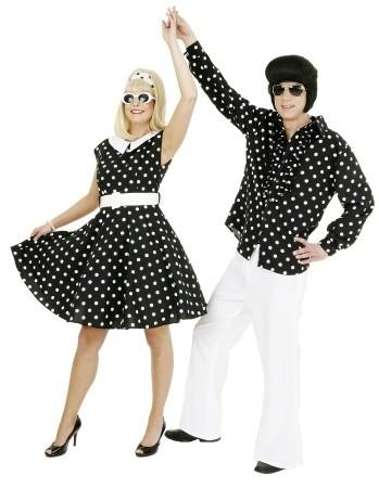 Polka Dots 50er Jahre Kostüm Für Damen
