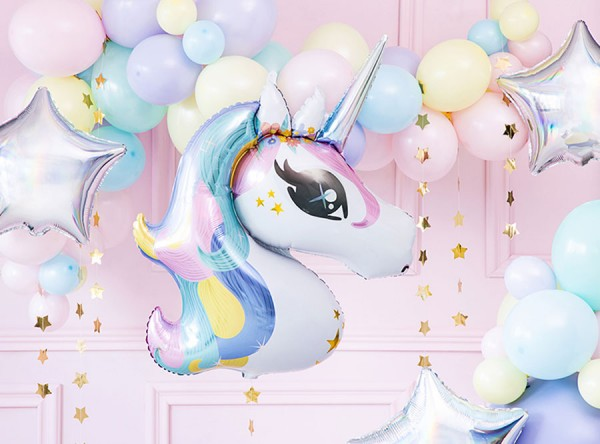 Folienballon Party Einhorn 90cm